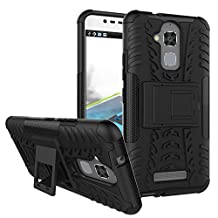 "MOONCASE Zenfone 3 Max ZC520TL 5.2"" Case Built-in Kickstand Hybrid Armor Case Detachable 2 in 1 Shockproof Tough Rugged Dual-Layer Case Cover for Asus Zenfone 3 Max ZC520TL 5.2"" Black"