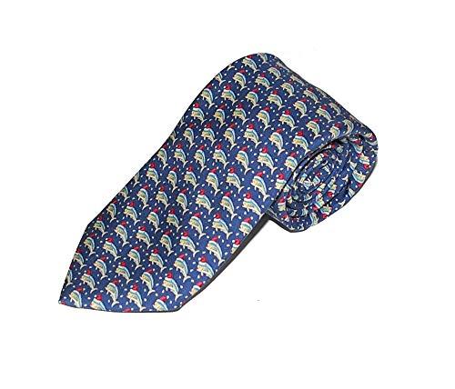 Vineyard Vines Men's Mahi Christmas Tie Blue