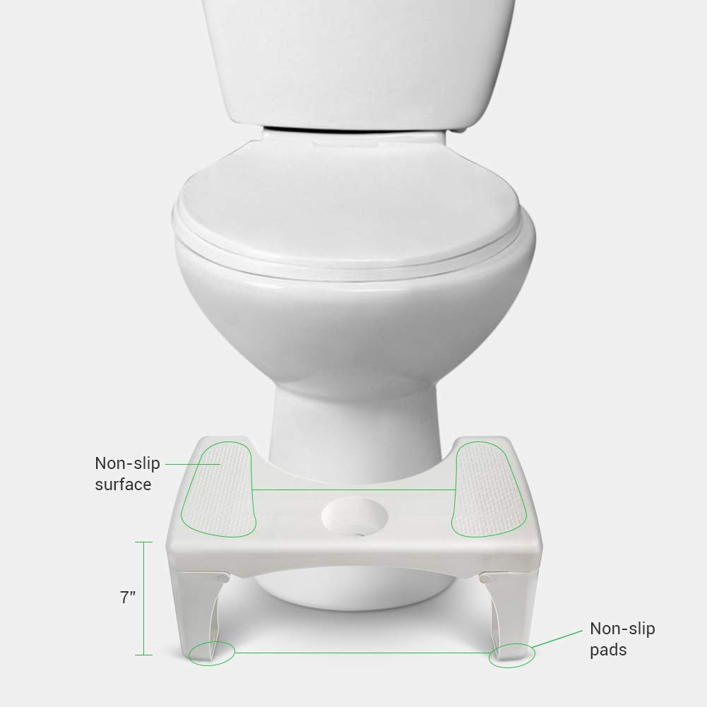 Rokoo Step Stool, Pro Toilet Stool Detachable and Folding Step Stool, with Silicone Foot Pad and Replaceable Spice Box 7\