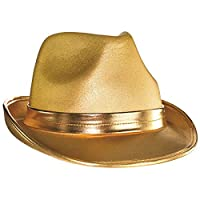 Amscan Velour Fedora, Party Accessory, Gold