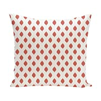 E By Design Cop-Ikat Geometric Print Outdoor Pillow, 18-Inch, Seed