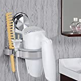 Topinch Fdit Hair Dryer Holder, Bathroom Wall Mounted Suction Cup Blow Dryer Holder