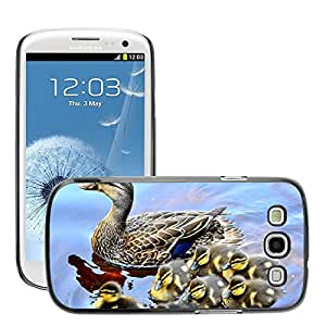 Super Stella Slim PC Hard Case Cover Skin Armor Shell Protection // M00146678 Duck Ducklings Lake Family Water // Samsung Galaxy S3 S III SIII i9300