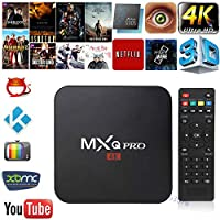 FidgetFidget TV Box Android 7.1 Quad Core Smart 1080P HDMI WiFi KODI 17.6 MXQ Pro 4K 3D 64Bit