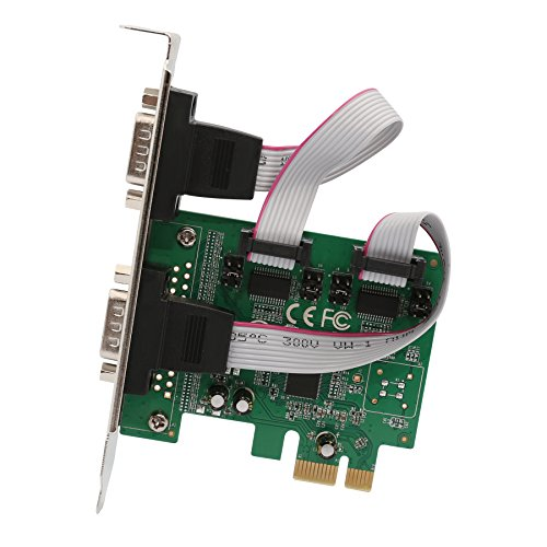 IO Crest 2 Port PCI Express 1.0 x 1 to Industrial Serial DB9 COM RS232 Converter Adapter Controller for Desktop PC with Low Bracket