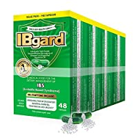 IBgard® for The Dietary Management of Irritable Bowel Syndrome (IBS) Symptoms Including, Abdominal Pain, Bloating, Diarrhea, Constipation†*, 192 Capsules (4 Pack)