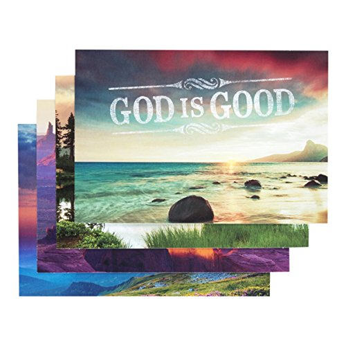 Boxed Christian Cards - DaySpring Thank You Boxed Greeting Cards w Embossed Envelopes - God is Good, 12 Count