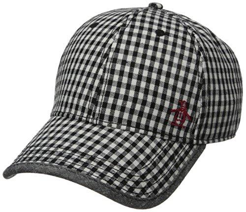 Original Penguin Men's Gingham Baseball Cap, Black, One - Cap Penguin Linen Original