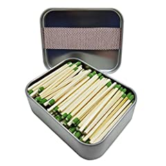 New Improve matches. Perfect for cigarettes, cigars, candles, fireplaces and Bar-B-Q. This tin container is full of about 168 wooden strike almost anywhere matches, never worry about having 3 on a match again. Cans are made from reusable tin ...
