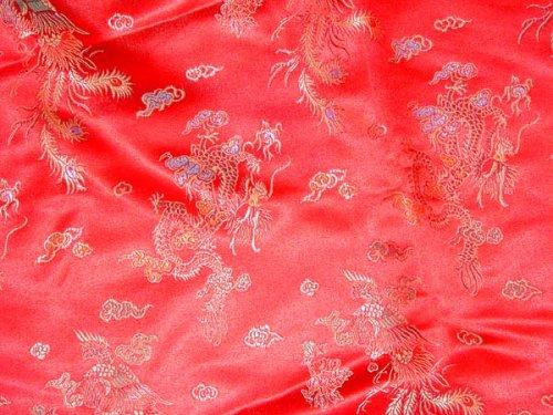 Amazon.com: Chino Brocade Fabric (Dragon & Phoenix) (Ver ...