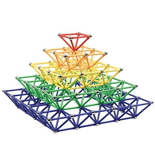 Edress 250 Pcs lengthen Magnetic Sticks Building Set Intelligence Toys ()