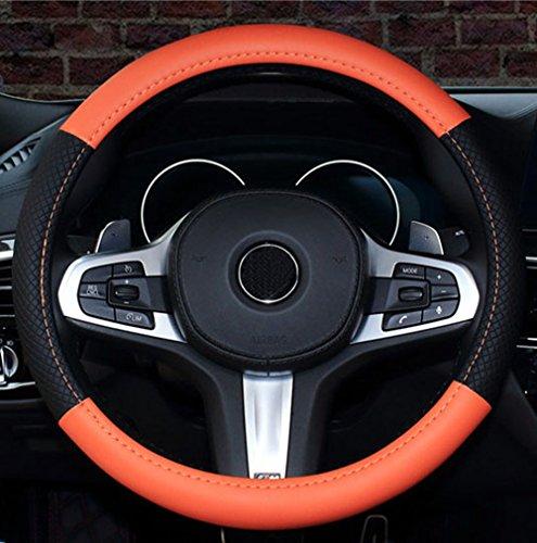 (ISTN 2018 New Car Steering Wheel Cover Comfort Durability Safety Case (14.5''-15'', Orange))