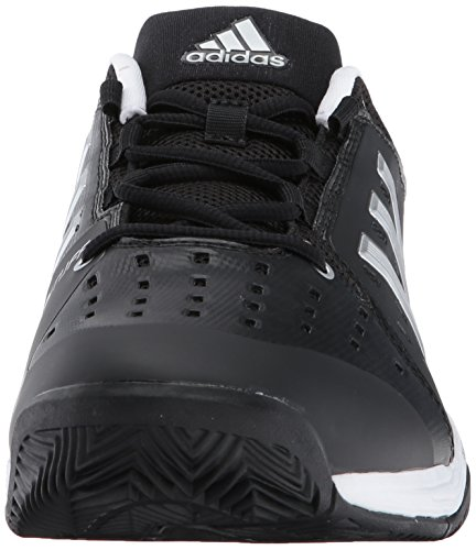 adidas Barricade Classic Wide 4E Tennis Shoe, Black/Silver Metallic/White, 6 M US Black/Silver Metallic/White