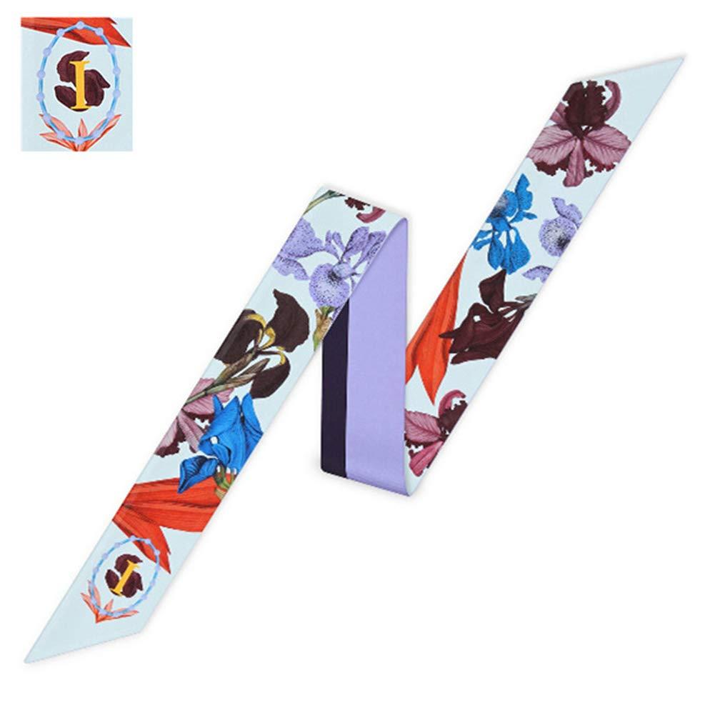 Neck Scarf A to M Letters Tarot Print Handbag Bag Ribbon Neckerchief Hair Wear