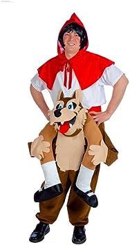 Disfraz de Lobo llevando a Caperucita para adultos: Amazon.es ...