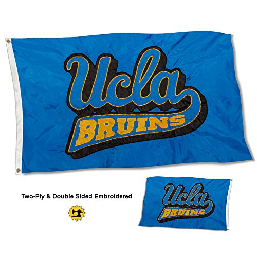 College Flags and Banners Co. UCLA Bruins Double Sided Nylon Embroidered Flag