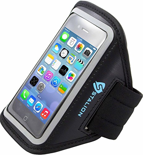 iPod Touch 4th Armband: Stalion Sports Running & Exercise Gym Sportband (Jet Black) Water Resistant + Sweat Proof + Key Holder