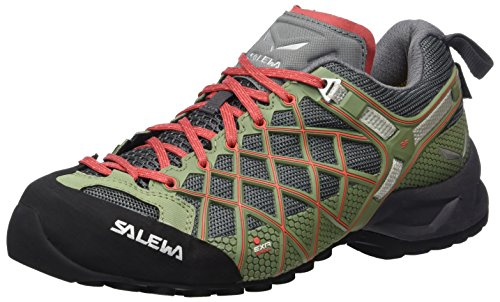 Salewa Women's Wildfire S Gtx-W Climbing-Shoes, Magnet/Hot Coral, 8 D US by Salewa