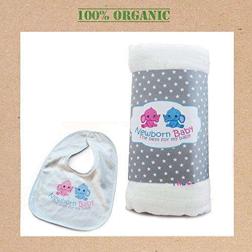 Organic Muslin Swaddle Blanket, Super Large, Safe & Soft, Cu