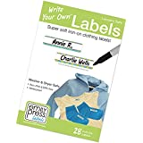 Avery No-Iron Clothing Labels, White, Assorted Shapes, 45 Labels ...