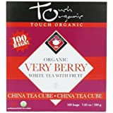Touch Organic Very Berry White Tea with Fruit, 100 Count, 7.05-Ounce Boxes (Pack of 4) by Touch Organic