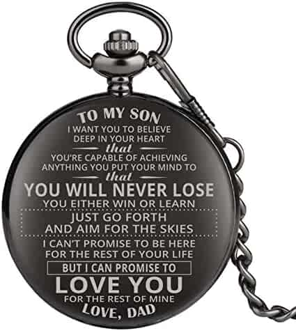Engraved Pocket Watch, Pocket Watch for Boys, Personalized Gift