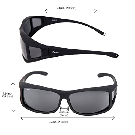 1c636fe2fc Yodo Over Glasses Sunglasses with Polarized Lenses for Men and Women  Driving Cycling Fishing - UV400