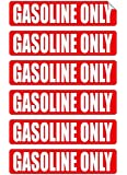 6 pack GASOLINE ONLY Decals / Stickers / Labels / Markers Fuel Gas