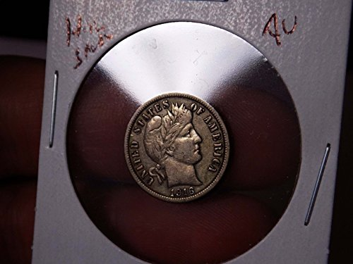 Barber Dime 1916 AU Nice Original High grade Type -