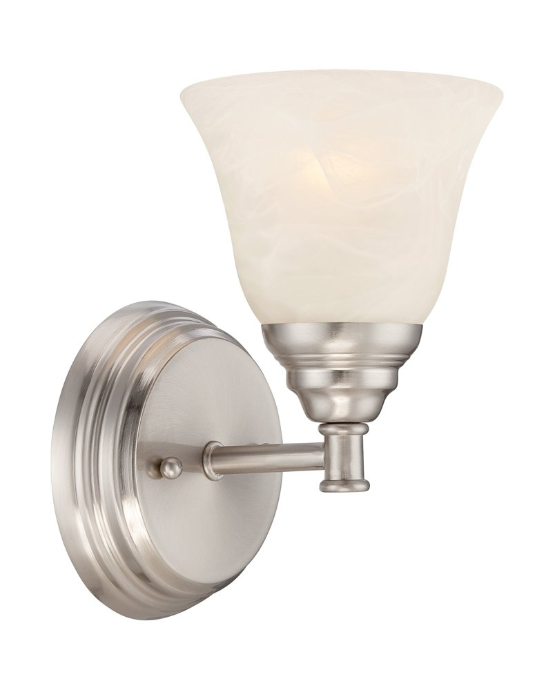 Designers Fountain 85101-SP Kendall Wall Sconce, Satin Platinum