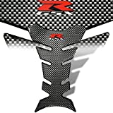 2014 suzuki gsxr 1000 stickers - 3D Gel Fuel / Gas Tank Pad Protector Decal / Sticker Chrome Carbon Look Suzuki GSX-R