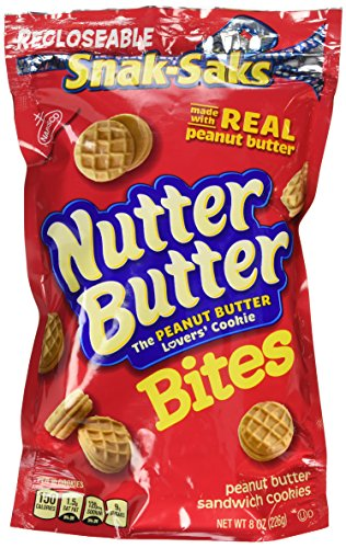 Nabisco, Mini Nutter Butter, Bite Size Snak-Saks,