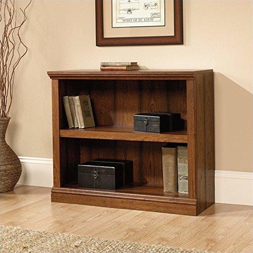 Sauder 2-Shelf Bookcase, Washington Cherry finish (Old Forge Furniture)