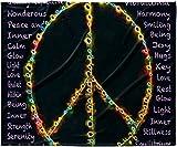 KESS InHouse Anne LaBrie ''Peaceful Meditation'' Black Rainbow Fleece Baby Blanket, 40'' x 30''