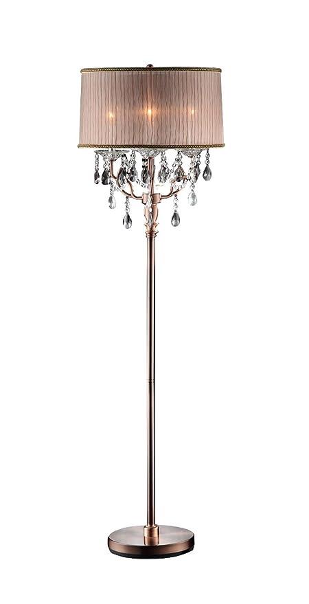 OK-5126f 62-Inch Rosie Crystal Floor Lamp Deer Antler Inspired ...