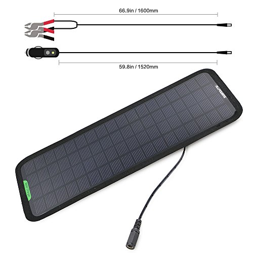 ALLPOWERS 18V Solar Charger Bundle Cigarette Plug, Battery Line, Suction Manual