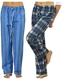 Women's Lounge Pants Combo Pack,100% Cotton Flannel
