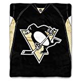 The Northwest Company Officially Licensed NHL Pittsburgh Penguins Jersey Plush Raschel Throw Blanket, 50'' x 60''