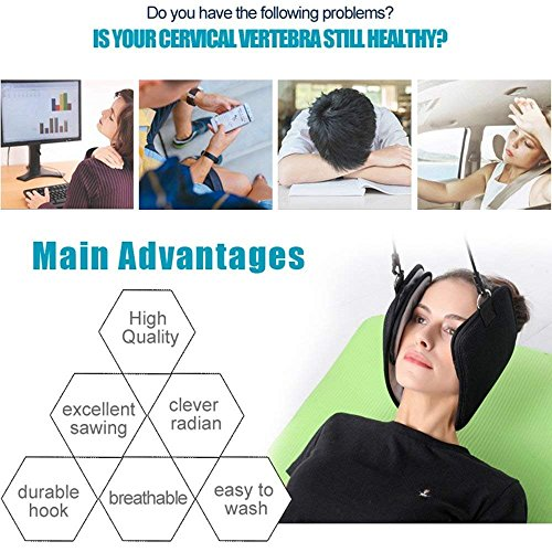 Neck Hammock, Warmhoming Hammock for Neck Pain Relief Portable Cervical Traction and Relaxation Device by Warmhoming (Image #1)