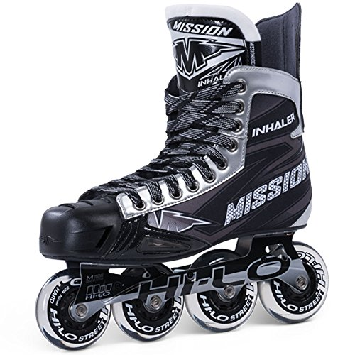 Bauer Mission Junior RH Inhaler Nls 06 Hockey Skate, Black, E 5.0
