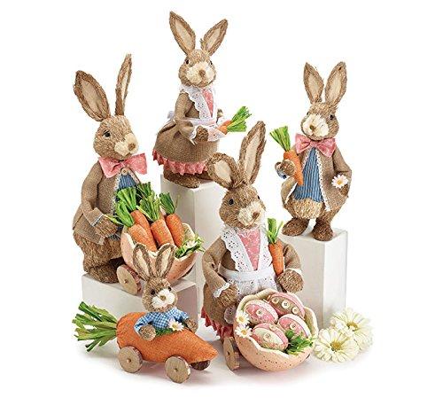 Burton & Burton Sisal Sunday Bunny Family Set Childrens Party Activities