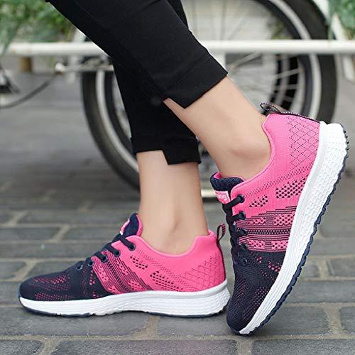 Rosa Quicklyly Yoga Corriendo Mujer calzado Gimnasia Deportivo Zapatillas Ligeras Casuales De zapatos Deportivas Para Casual Caliente Y rxZwBrTf4q