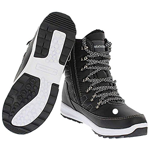 (Weatherproof Womens Alexa Sneaker Boots (Black, 8))