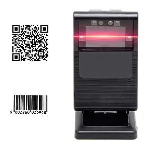 1200 Times/s 2D Barcode Scanner Beeping Sound Adjustable Automatic Image Sensing USB Wired Bar Codes MUNBYN Desktop Presentation Reader
