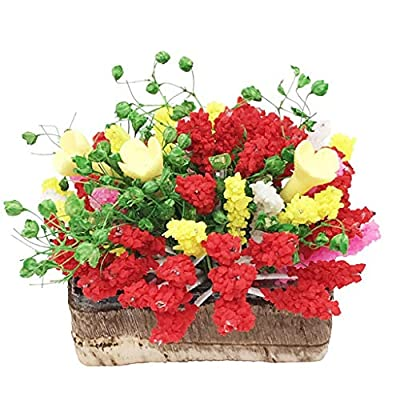 Xuways 1:12 Scale Miniature Life Play Scene Model Mini Fake Flowers Toys Dollhouse Decoration Accessories for Kids Toddlers Pre-K,Version 3: Toys & Games