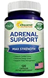 Adrenal Support & Cortisol Manager Supplement (120 Capsules) – Adrenal Health Complex Pills to Support Fatigue, Cortisol Levels & Calm Stress Relief – Ashwagandha, L-Tyrosine, Rhodiola & Ginseng