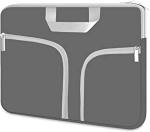 Chromebook Case, HESTECH 14-15.6 Neoprene Laptop Sleeve with Handle for 15-15.6 Inch HP Dell Asus Acer Thinkpad Samsung Laptops Lenovo Yoga,Gray