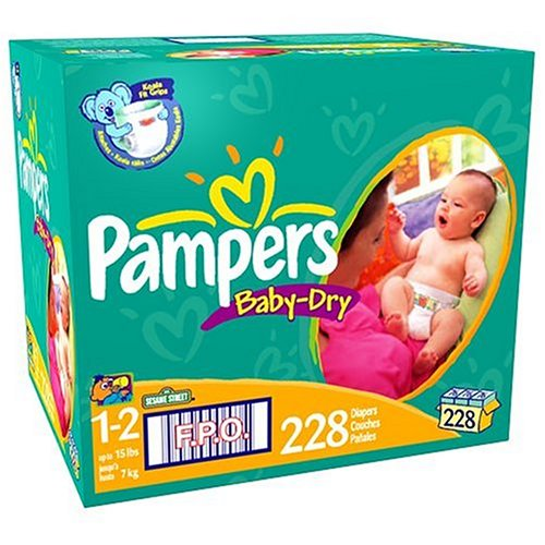 UPC 037000426271, Pampers Baby Dry Diapers, Size 1-2, 228-Count