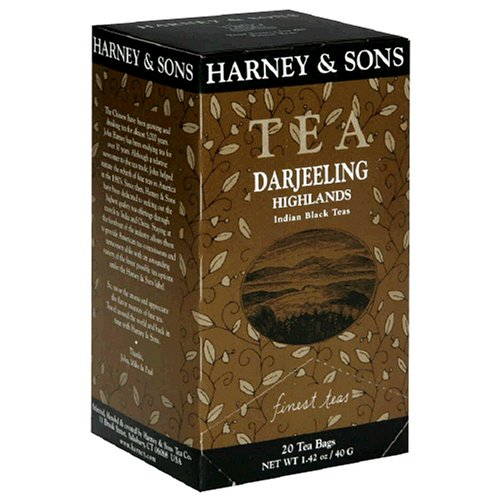 Harney & Sons Indian Black Teas, Darjeeling Highlands, Case of Six 20 Tea Bags each (120 bags) (Tea Tea Highland Black)
