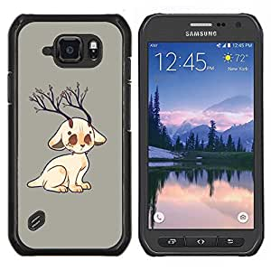 """Be-Star Único Patrón Plástico Duro Fundas Cover Cubre Hard Case Cover Para Samsung Galaxy S6 active / SM-G890 (NOT S6) ( Rama Gato Cuernos Arte Dibujo Naturaleza Árbol"""" )"""